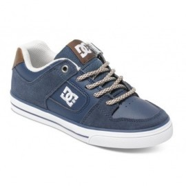 Chaussures DC Junior Pure SE Navy Dark Chocolate